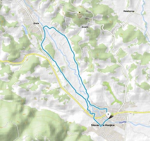 Trasa srednjeprogaških 10 kilometrov