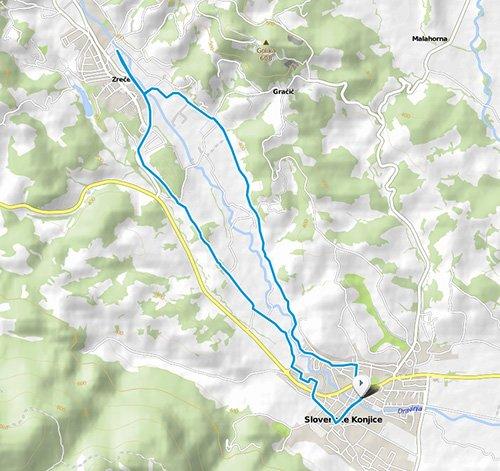 Trasa polmaratonskih 21 kilometrov